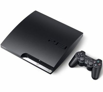 Sony PlayStation 3 PS3 Slim 320 GB Black Console Excellent UK PAL