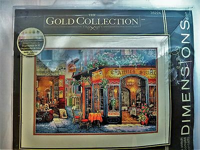 """Gold Collection EUROPEAN BISTRO 35224 Dimensions Counted Cross Stitch Kit 16x11"""""""