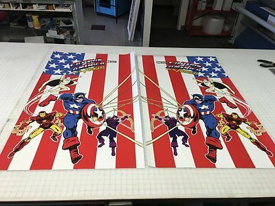 Captain America & The Avengers Arcade Game Side Art - Decals