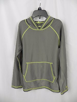 NEW Kid's Oxide Steel Gray UPF 50 Fitted Hoodie Swim Shirt Long Sleeve (S1-60)
