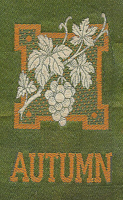 Vintage/antique early 1900s woven silk-use in crazy quilt- ZODIAC: AUTUMN