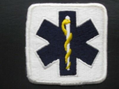 """Emergency Medical Services Star of Life Patch -Square 3"""" by 3"""""""