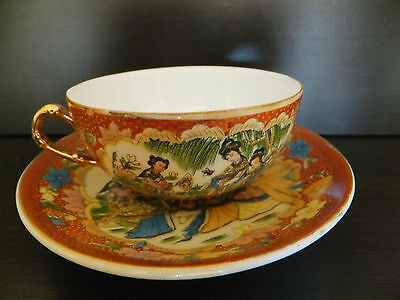 Beautiful vintage tea cup and saucer, China porcelain, hand painted