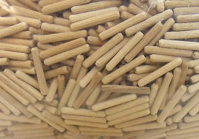 1 kg Beech Fluted dowels Wood dowel 6 mm x 60 mm - 1 kg = approx. 850 Pieces