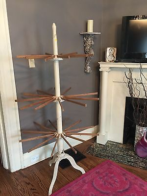 Antique Vintage Circular Laundry Dryer Clothestree 3 Fold Out Levels Drying Tree