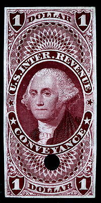 US R66TC3 $1 Conveyance Revenue Trial Color India Proof VF SCV $85 (-001)