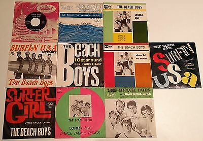 Beach Boys - All first 8 Italian singles + unique EP in EX TO M condition!