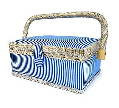 """bbloop Small Sewing Basket (7.75"""" x 5"""" x 3.5"""") with Notions"""