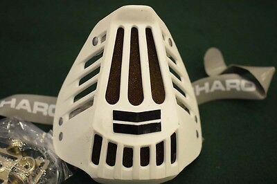 HARO BMX Bicycle Helmet protective Face Mouth Guard white 80s Old School NOS
