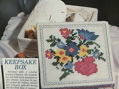 Pretty Floral Keepsake Box  Pattern(s) in Plastic Canvas
