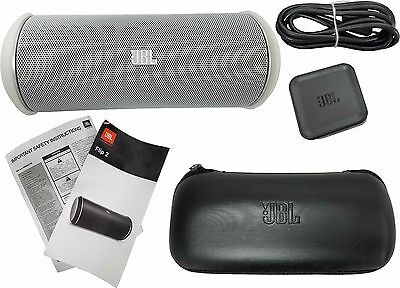 JBL Flip 2 Portable Wireless Bluetooth Stereo Speaker NFC Harman Kardon White