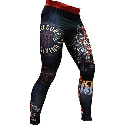 Compression Pants Hardcore Training Tiger Spats MMA BJJ Fitness