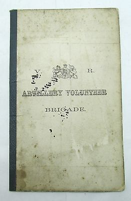 Artillery Volunteer Corps Brigade 1868 Wolverhampton Admission Card South Staffs
