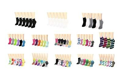 Womens lady Girl Casual Ankle Socks Size 9-11 12 pairs wholesale lot multi style