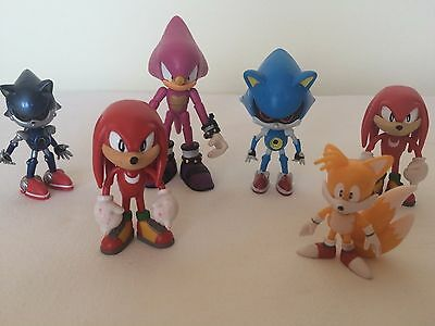 Sonic Knuckles Tails Small Action Figures set of six Pieces