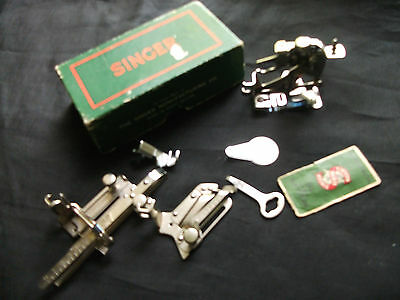 Job Lot Singer Sewing Machine Attachments  + Neeedles / Key / Threader  +  Box