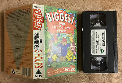 The Biggest Ever Pre-School Video - Huxley Pig, Paddington Bear, Bump -Vhs Video