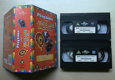 Playtime At The Fun At The Fun Song Factory - Double Pack - Vhs Video