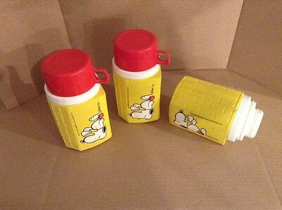 Vintage Snoopy Peanuts Thermos Lot of 3