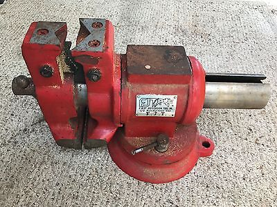 F.j.t. First Jefferson Tool Inc Multipurpose Red Vise Pipe Bench Blacksmith