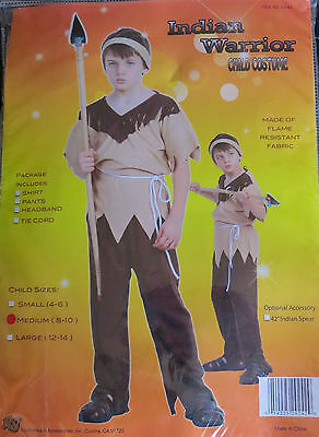 Child's Halloween Costume: INDIAN WARRIOR  Med.(8-10)  NEW