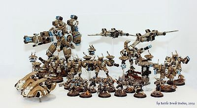Games Workshop - Warhammer 40k Tau Army (professionally painted)