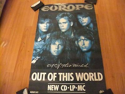"EUROPE""Out of this World "" Promo Poster 20 by 30 inchs(1988)NEVER BEEN DISPLAYED"