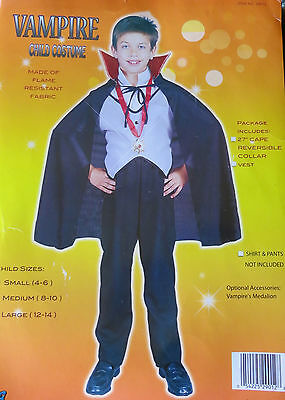 Child's Halloween Costume:  VAMPIRE, Size L (12-14) NEW