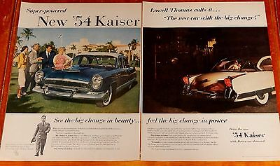 1954 Kaiser Manhattan Or Dragon For Large Retro Ad - Vintage 50S American