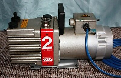 Edwards 2 Stage Rotary Vane Vacuum Pump With Ac 250 V Motor-  Working Order