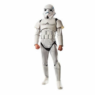 NWT New Star Wars Stormtrooper Costume Adult Size M 38-40 Rubies deluxe w/Mask