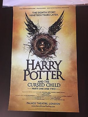 HARRY POTTER AND THE CURSED CHILD Play Window Card Poster London J. K. Rowling