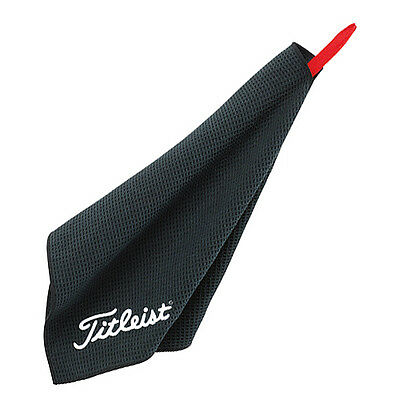"New! Titleist Microfiber Golf Towel Waffle Design - BLACK - 16"" x 32"""