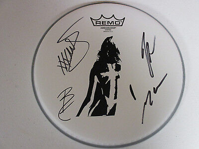 The Pretty Reckless Autographed Signed Drumhead With Signing Picture Proof