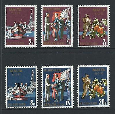 1979 MALTA End of Military Agreement with Great Britain Set MNH (Scott 552-557)