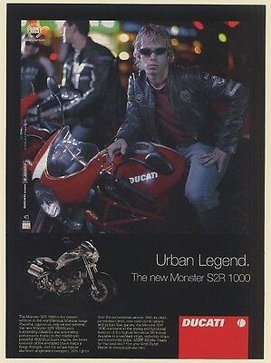2006 Ducati Monster S2R 1000 Motorcycle Urban Legend Print Ad