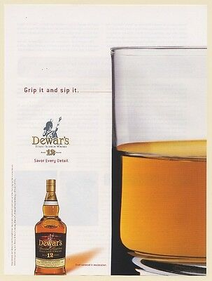 2004 Dewar's Special Reserve Scotch Whisky Grip It and Sip It Print Ad
