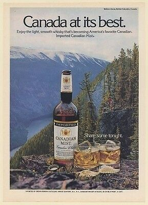 1978 Canadian Mist Whisky Walkers Dome British Columbia Canada Print Ad