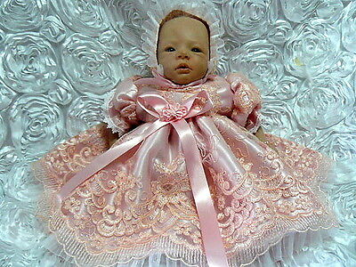 Peachy Pink Dress For Reborn Doll Or Newborn Baby  Victorian