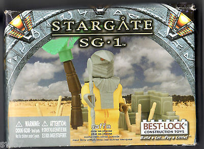Stargate SG1 Jaffa Best Lock construction toy staff palm tree New in box