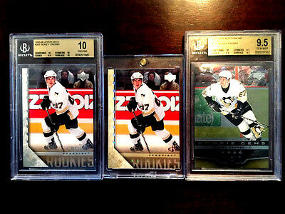 Sidney Crosby 2005 05 06 Upper Deck Rookie Young Guns Bgs 10 Hg High Gloss /10