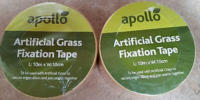 Artificial Grass Tape Self Adhesive Joining fixing Turf Tape **10m** TWIN PACK