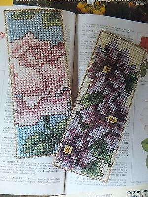 Beautiful Blooming Bookmarks Pattern(s) in Plastic Canvas