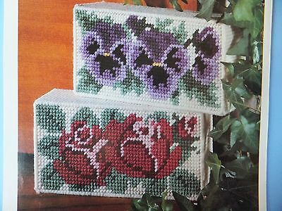 Pretty Doorstop Blossoms or Book Ends  Pattern(s) in Plastic Canvas