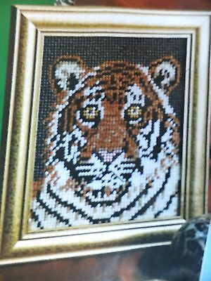 Beautiful NIGHT TIGER Picture to Stitch 8 x 10  Pattern(s) in Plastic Canvas