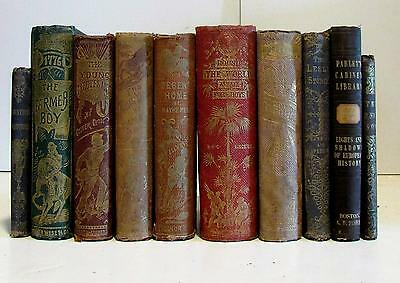 Boys books collection mid-19th Century 1846-76 illustrated old antique 10v nice