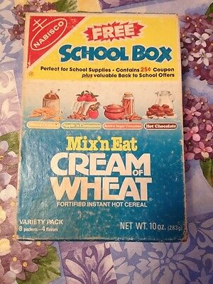 Vintage Nabisco Mix' N Eat Cream Of Wheat Promotional School Box School Supplies