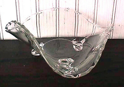 *century Crystal Clear 3 Footed Tricorne Bowl Fostoria-B77-E