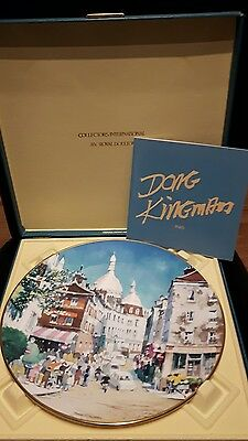 Don Kingman Royal Doulton plate Montmartre Paris 542/15,000- original case 1978