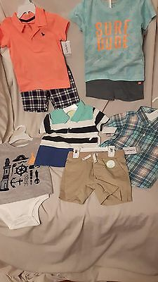 NWT lot of Carters Oshkosh boys summer clothes size 18m New